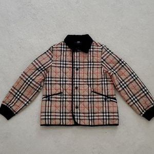 Burberry Vintage Check Diamond Quilted Jacket-KIDS